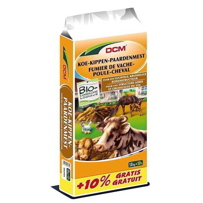 Fumier seche de vachepoule cheval dcm 18 1 8 kg bio - Le fumier de cheval est il bon pour le jardin ...