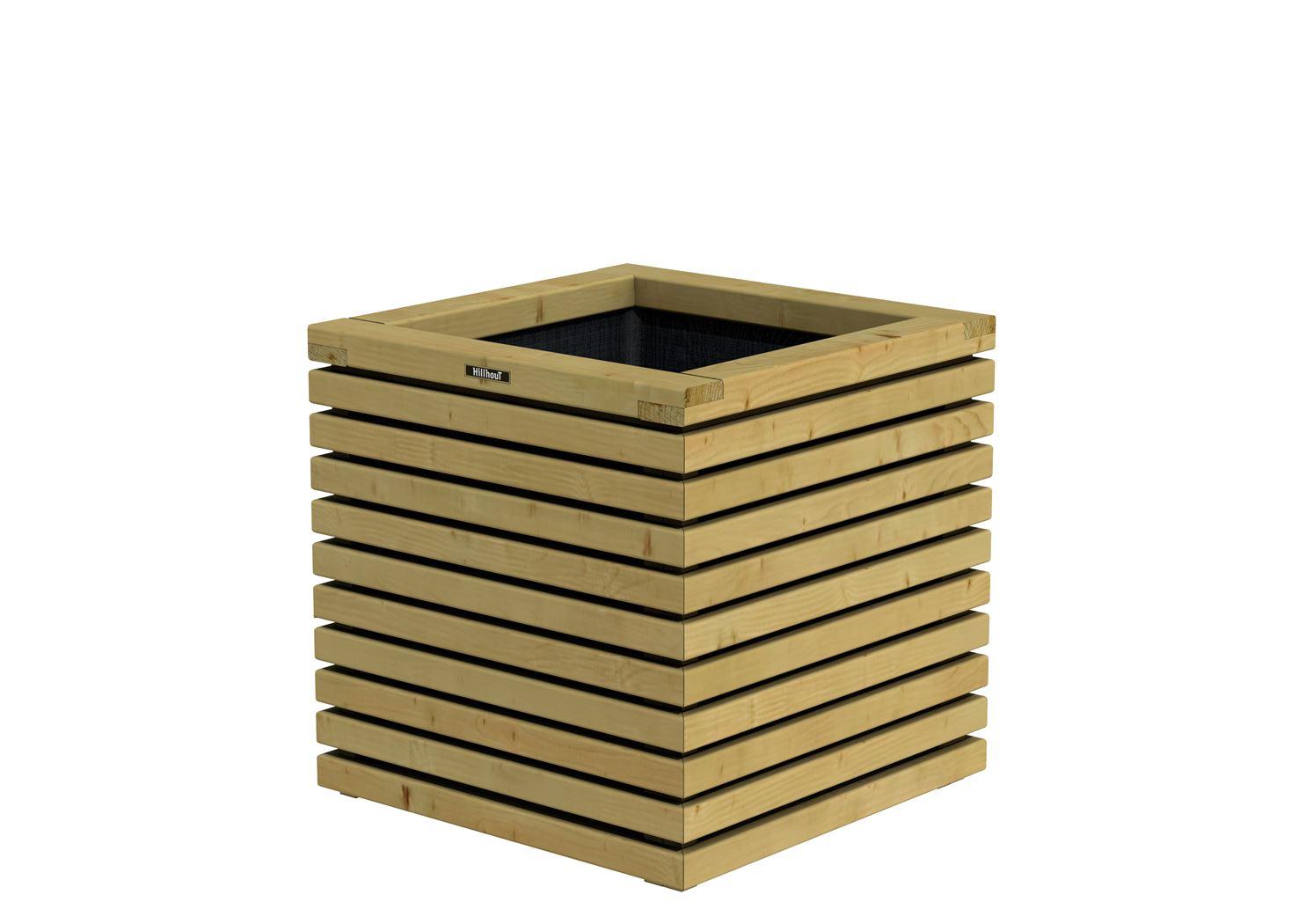 Hillhout elan bac carr en bois excellent 60x60x60cm - Bac carre en bois jardin ...