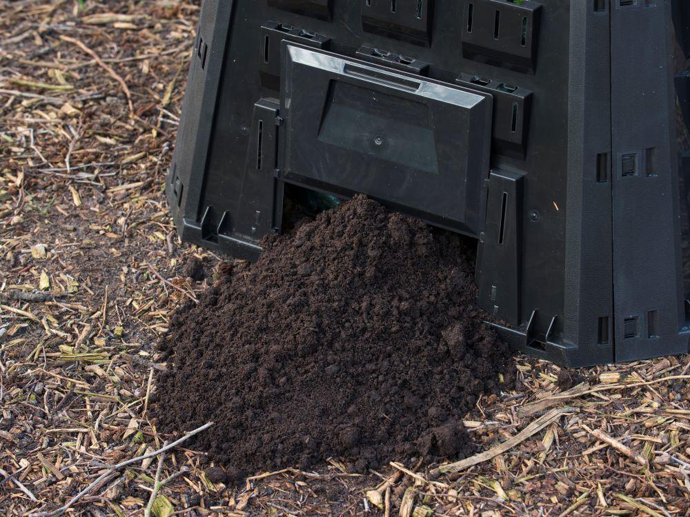 Nature Silo thermocomposteur - PP, 400 L, noir, pliable - H80 x 88,5 x 88,5 cm
