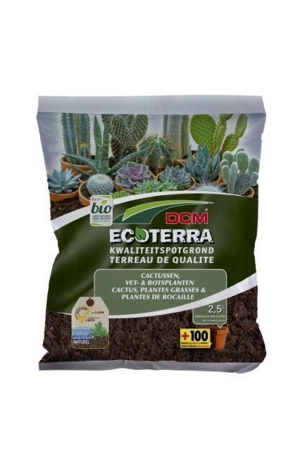 dcm ecoterra cactus plantes grasses plantes de rocaille 2 5 l bio terre de rempotage. Black Bedroom Furniture Sets. Home Design Ideas