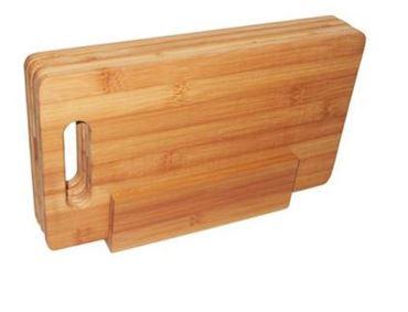 Bamboo 4 Planches à Petit Déjeuner Avec Support, 29x16cm