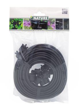 Kit accessoire système irrigation - 10 m tuyau Ø4mm, 12 goutteurs, 1 goutteur bouchon, 1 adaptateur tuyau goutte à goutte 4mm, 1 adaptateur mâle