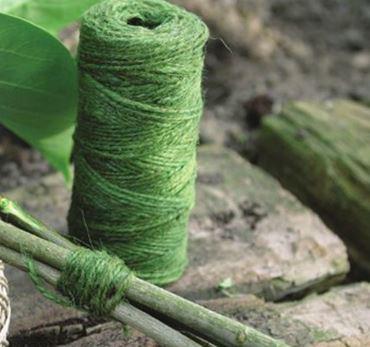 Ficelle de jute colorée verte - 90 m