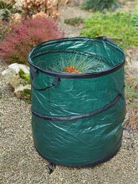 Sac à déchets multi-usages spiralé - PEHD, 100 L, poignées, pliable - H50 x Ø48 cm