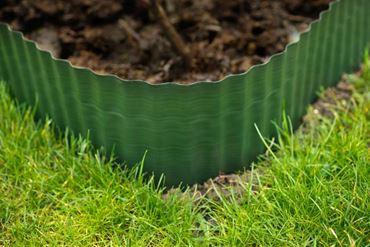 Bordure à gazon polyéthylène vert H15 cm x 9 m