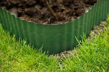 Bordure à gazon polyéthylène vert H25 cm x 9 m