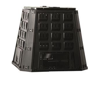 Silo thermocomposteur - PP, 400 L, noir, pliable - H80 x 88,5 x 88,5 cm